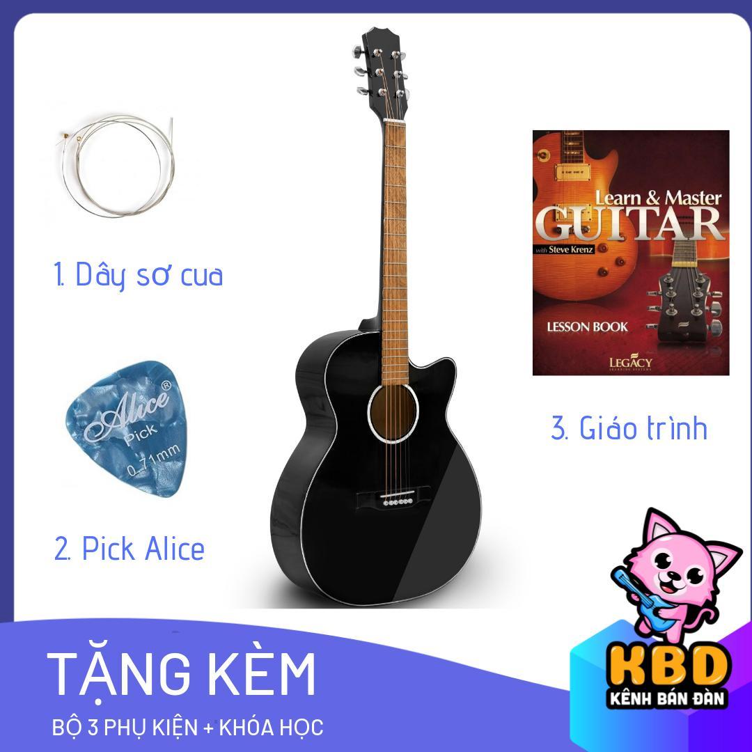 [TẶNG KÈM KHÓA HỌC] Đàn Guitar Acoustic KBD  -10 + pick gảy , giáo trình online hướng dẫn cho người mới tập chơi. Nhật Bản