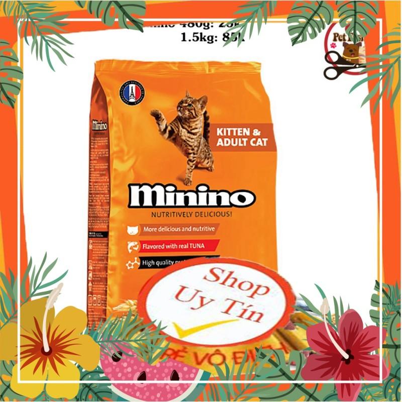 Thức Ăn Hạt Khô Minino Cho Mèo Mọi Lứa Tuổi gói 1.3kg