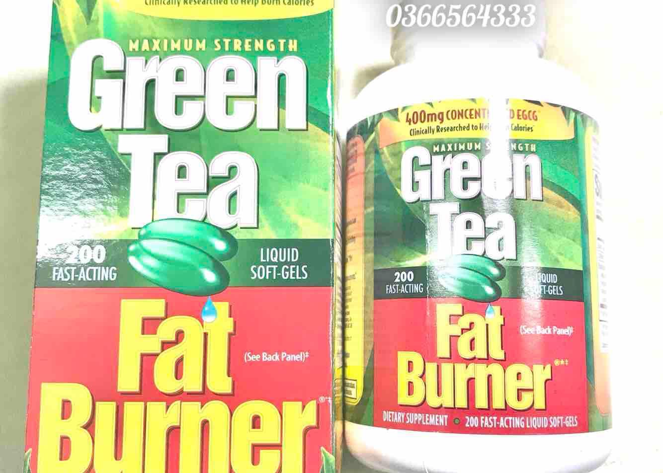 Viên uống hỗ trợ giảm cân Green Tea Fat Burner – 100% từ trà xanh thiên nhiên – Made In USA