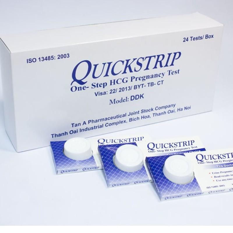 Que thử thai Quickstrip hộp 24 que