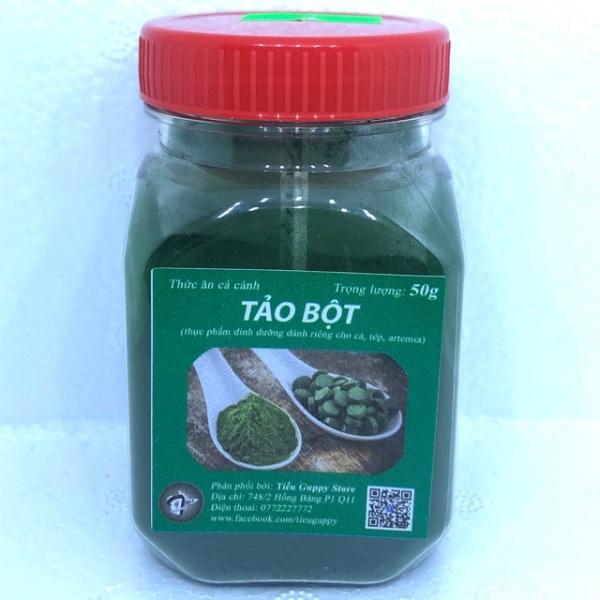 Tảo bột - thức ăn dinh dưỡng cho cá tép artemia