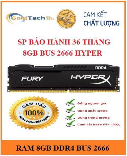 Bảng giá RAM Kingston HyperX Fury 8GB DDR4 Bus 2666 MHz mới 100%, bảo hành 3 năm Phong Vũ