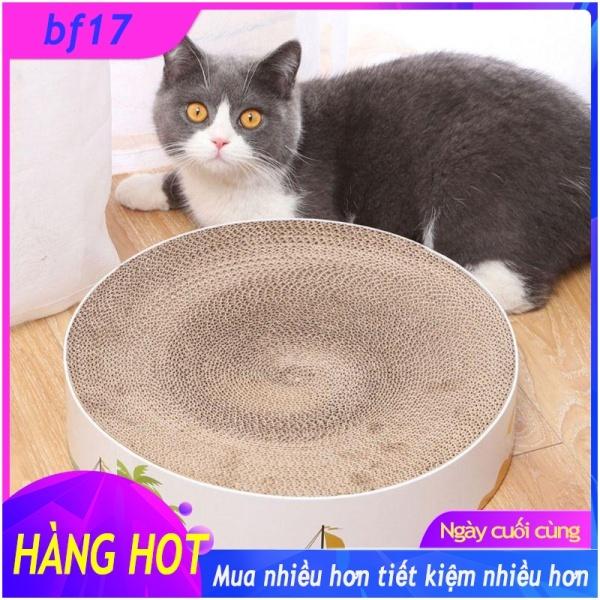 【COD】Tấm Bìa Các Tông Sóng Cào Cho Mèo, Giường Nằm Miếng Cào Tròn, Dụng Cụ Cào Cho Mèo Mèo Con Giường Nghỉ Ngơi Có Bạc Hà Mèo