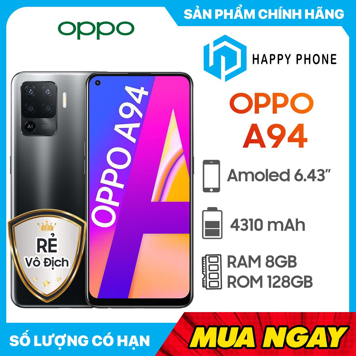 [Trả góp 0%] Điện thoại OPPO A94 (8GB/128GB)- Hàng chính hãng mới 100% Nguyên Seal Bảo hành 12 tháng