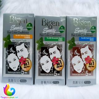 Kem Nhuộm Tóc Phủ Bạc Bigen Speedy Hair Color Conditioner, Phủ Bạc Thảo Dược Dành Cho Nam và Nữ thumbnail
