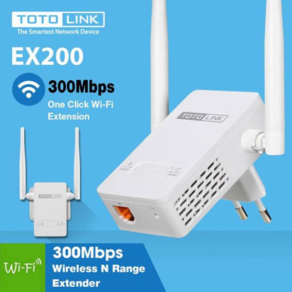 Bảng giá Bộ Kích Sóng Wifi TotoLink EX200 Repeater 300Mbps - 2 anten Phong Vũ
