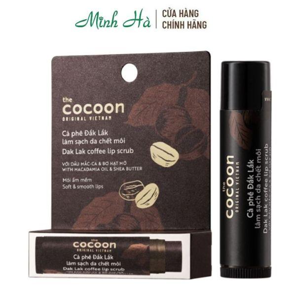 Tẩy da chết môi Cà phê Đắk Lắk Cocoon Coffee Lip Scrub 5g giúp môi ẩm và mềm
