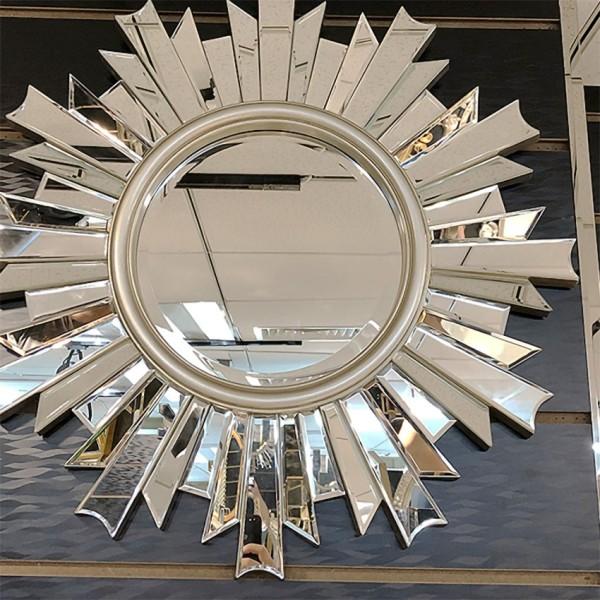 Gương Trang Điểm Treo Tường Bông Hoa Tuyết Decor Phòng Ngủ Đẹp - Gương Tròn Treo Tường Cỡ Lớn, Gương Treo Nhà Tắm Độc Lạ