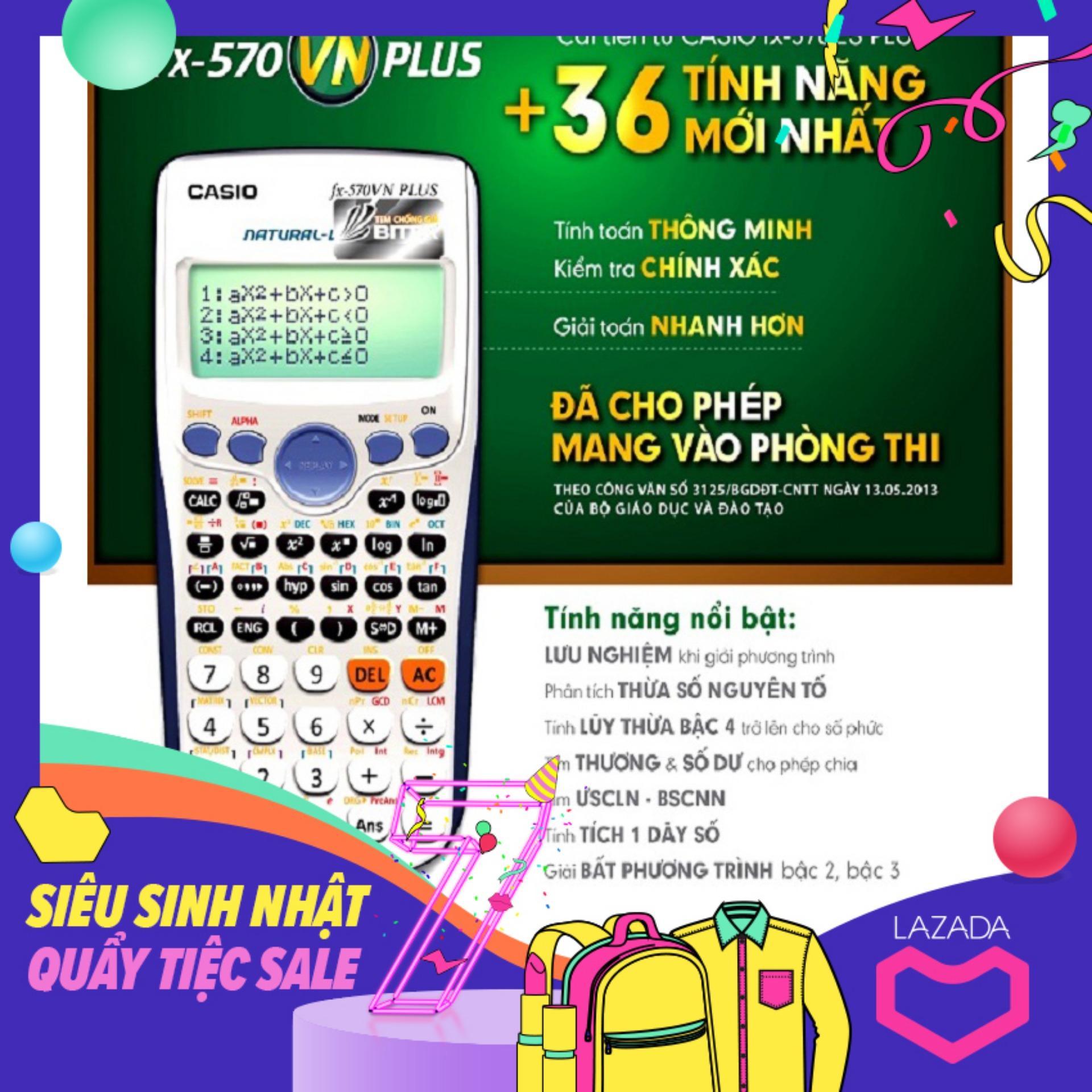 Mua Máy Tính Bỏ Túi Casio FX570 VN Plus (Có tem Bitex)