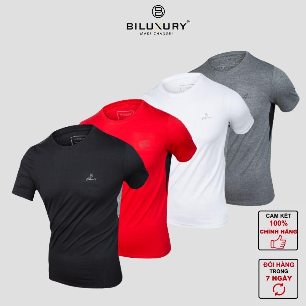BILUXURY - Áo phông nam thun cotton Biluxury cao cấp  nhiều màu trẻ trung dáng thể thao thấm hút mồ hôi cực tốt