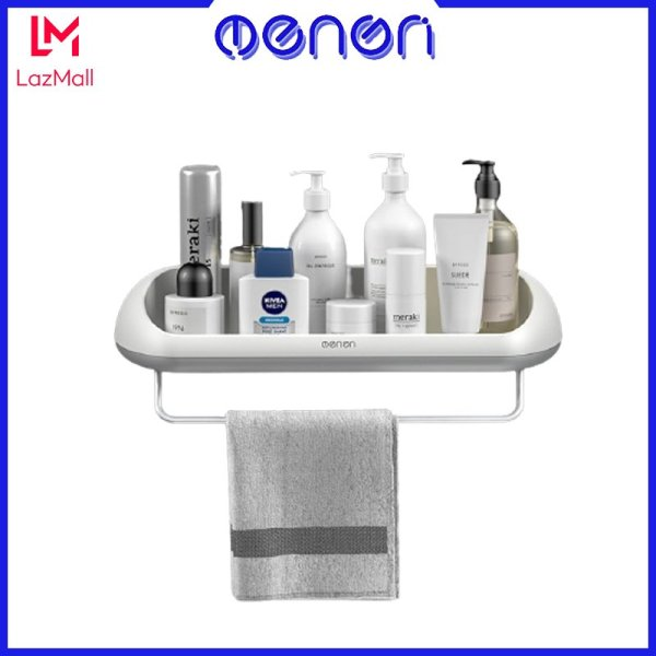 Kệ để đồ nhà tắm OENON Chính Hãng chất liệu nhựa ABS cao cấp lắp đặt dán tường gạch men - OEKE