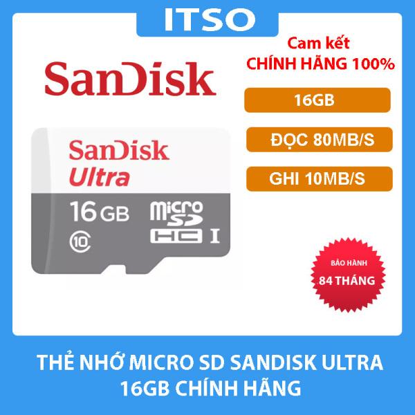 Thẻ nhớ SanDisk Ultra microSDHC 16GB 32GB 64GB 128GB chính hãng