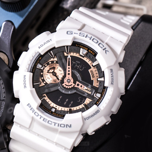 Đồng hồ G-Shock GA110 Trắng đồng rose thể thao nam nữ + Tặng kèm pin + Bảo hành 6 tháng bán chạy