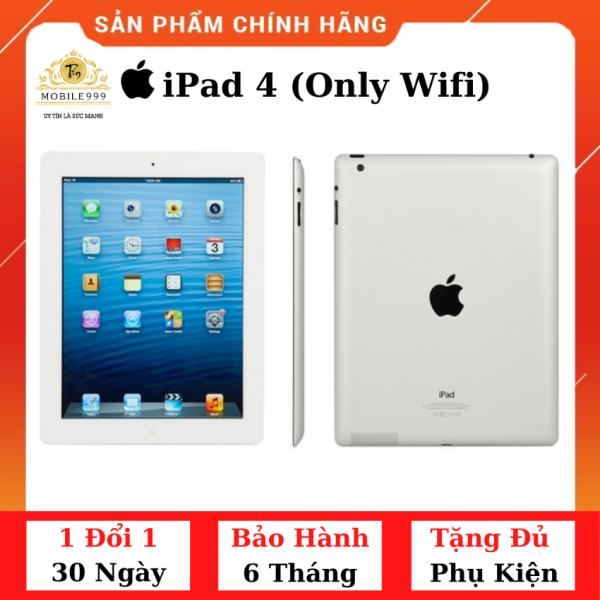 iPad 4 (Chỉ Wifi) 16GB Chính Hãng - Zin Đẹp - Màn Retina siêu đẹp - Pin cực bền với 11.560 mAh - Tặng phụ kiện + Bao da - 1 đổi 1 30 ngày - BH 6 tháng - MOBILE999
