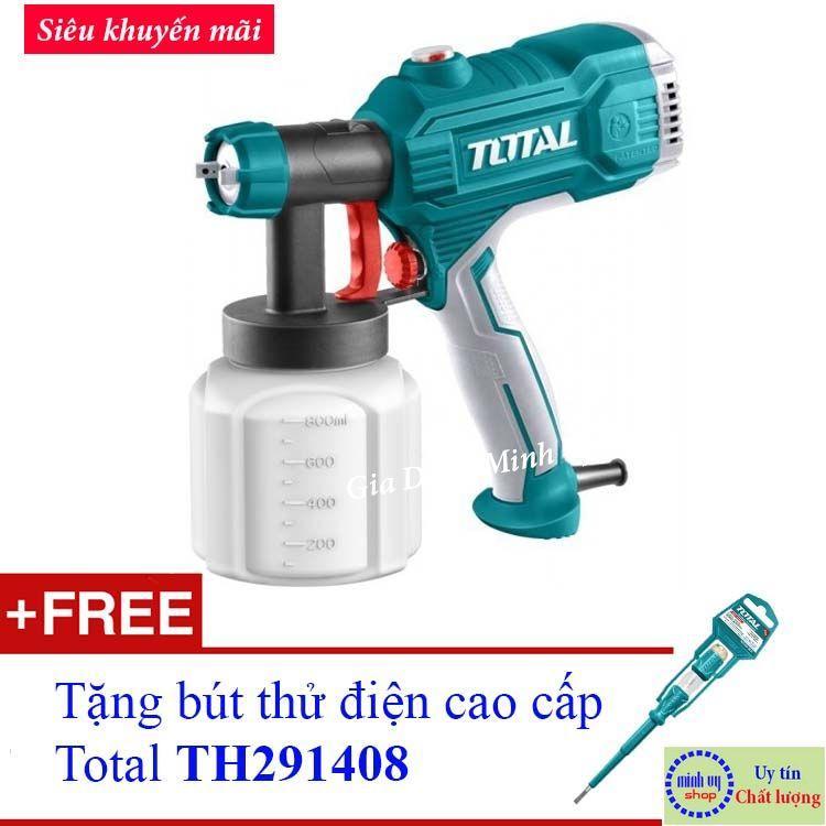 MÁY PHUN SƠN DÙNG ĐIỆN TOTAL TT3506 (Tặng bút thử điện Total THT291408)
