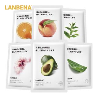 LANBENA Mặt nạ dưỡng ẩm làm trắng kiểm soát dầu chiết xuất từ trái cây thực vật (dung tích 25ml) - INTL thumbnail