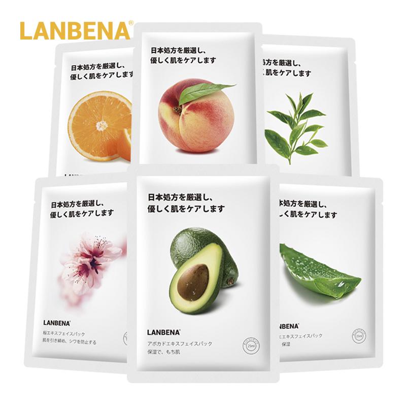 LANBENA Mặt nạ dưỡng ẩm làm trắng kiểm soát dầu chiết xuất từ trái cây thực vật (dung tích 25ml) - INTL giá rẻ