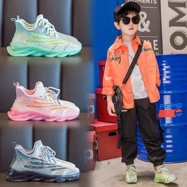 [Size 33-38] Giày Thể Thao Cho Bé Trai / Bé Gái Giày Sneaker Cho Bé  GT262 giá rẻ