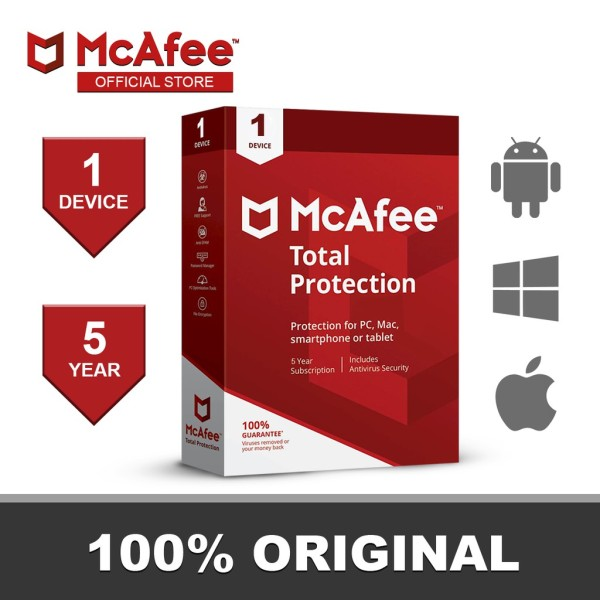 Bảng giá Phần Mềm Diệt Virus McAfee Total Protecion 1 PC / 5 Year Phong Vũ