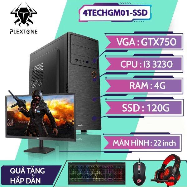 Bảng giá PC gaming giá rẻ full bộ, bộ máy tính để bàn chơi game 4TechGM01SSD CPU core i3, Ram 4Gb, SSD120Gb, PC giá rẻ chơi các game LOL, Dota2, Fifa, tặng kèm bàn phím, chuột, tai nghe, bảo hành 12 tháng, hỗ trợ ship toàn quốc. Phong Vũ