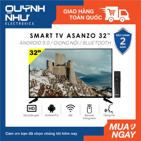 Bảng giá (Trả góp 0%) Smart Voice Tivi Asanzo 32 inch iSlim 32S51 (HD Ready, Android 9.0, Điều khiển giọng nói, Remote thông minh, Truyền hình KTS, Kết Nối Điện Thoại, Khắc Phục Lỗi Youtube, màu đen) - Tivi giá rẻ - Bảo hành 2 năm