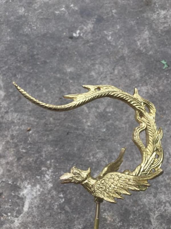( XẢ KHO BANH NÓC tặng kèm chống kiến ) - Combo 2 móc treo lồng chim bằng đồng hình phụng hoàng