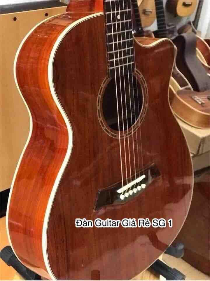 Đàn acoustic gỗ hồng đào full 2 mặt