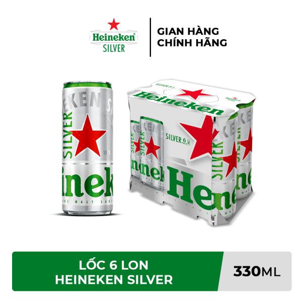 Lốc 6 lon bia Heineken Silver 330ml/lon