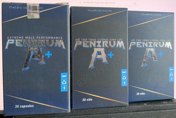 Combo 3 hộp PENIRUM A+ Hỗ trợ sức khoẻ sinh lý nam - Hộp 30 viên giá rẻ