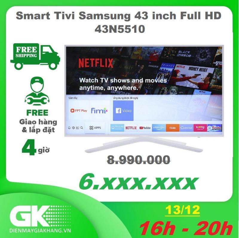 Smart Tivi Samsung 43 inch UA43N5510 Full HD - Màu sắc sống động, rực rỡ với công nghệ PurColour - Âm thanh vòm sống động với công nghệ Dolby Digital Plus - Bảo hành 2 năm chính hãng