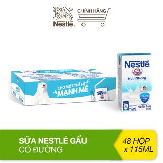 Thùng sữa có đường Nestlé gấu thùng 48 hộp (115ml hộp) thumbnail