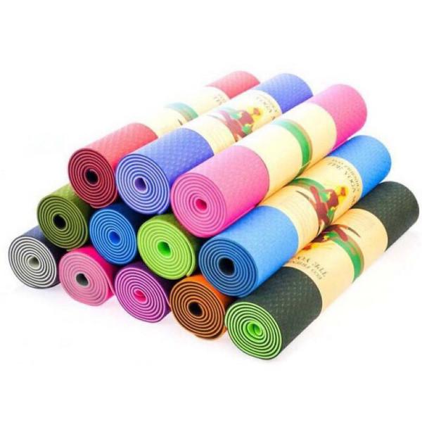 Thảm tập gym và yoga TPE 2 lớp đủ màu thảm tập yoga tpe 2 lớp 6mm cao cấp chất liệu an toàn khi tiếp xúc với da