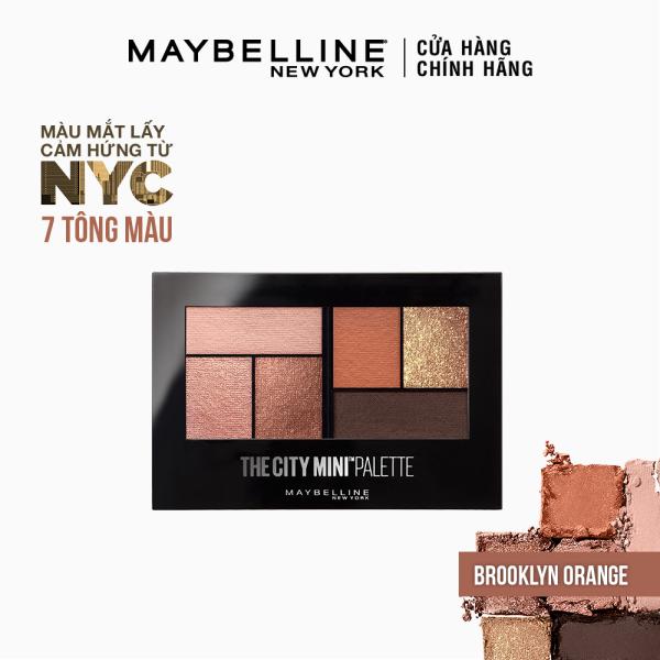Bảng phấn mắt mịn lì lên màu chuẩn Maybelline New York City Mini Palette 6 màu [Mới]