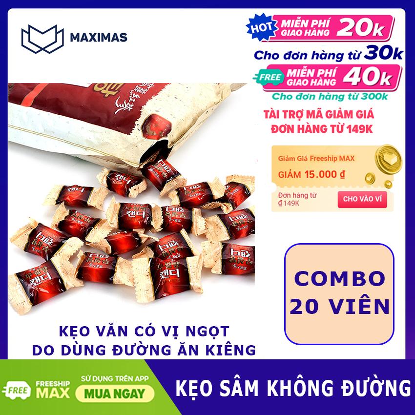 [HCM]Kẹo sâm Hàn Quốc không đường combo 20 viên dùng thử cho người chưa từng dùng nhân sâm