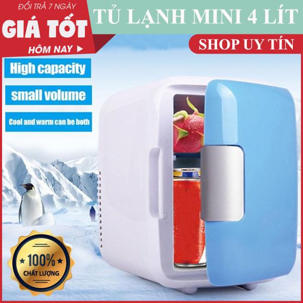 Tủ lạnh mini Car Cooler 4L , Tủ lạnh, tủ mát mini 4L dùng điện 12V dùng trên oto, xe hơi (4Lít, hai chiều nóng lạnh) Cao cấp Agiadep - Tủ lạnh mini đựng mỹ phẩm, sữa cho bé, đồ dùng, thực phẩm trên xe ô tô . BH UY TÍN 1 ĐỔI 1