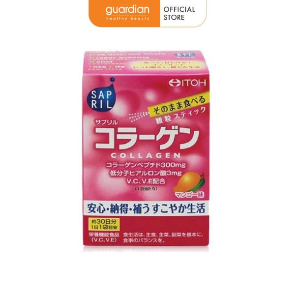 Thực phẩm chức năng Collagen dưỡng trắng da Itoh Sapril Collagen (30 gói x 2g)