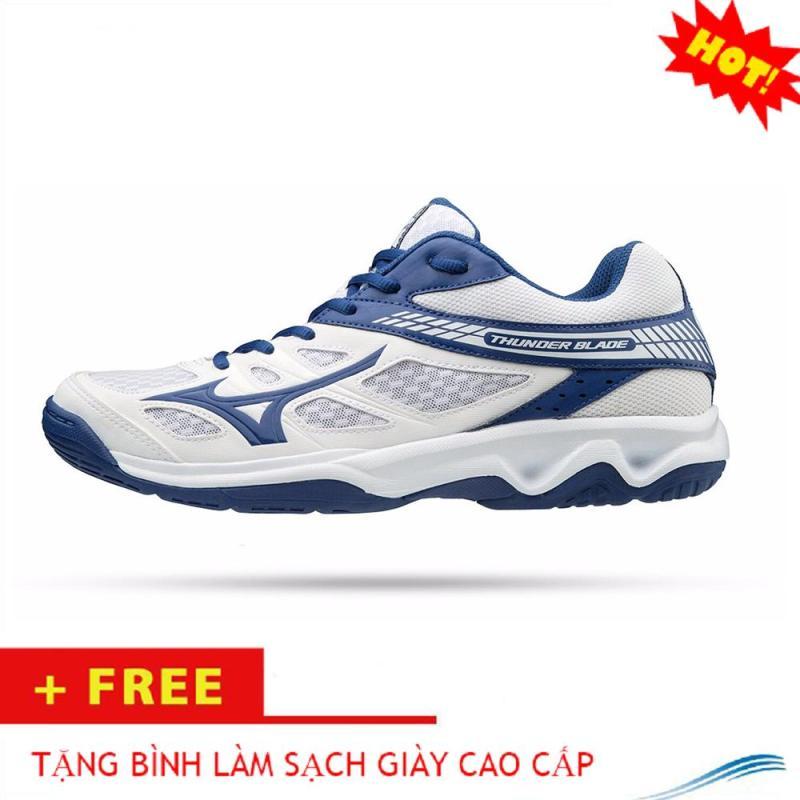 Giày thể thao Mizuno cao cấp, chuyên nghiệp(màu trắng xanh)