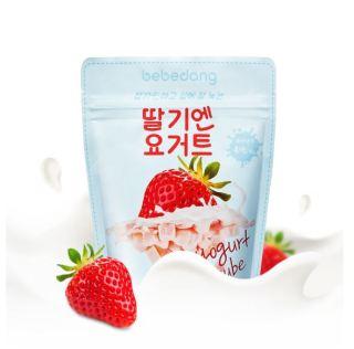 [DATE 2021] Sữa chua khô BEBEDANG ăn dặm cho bé (nhập khẩu chính hãng Hàn Quốc) vị Dâu thumbnail