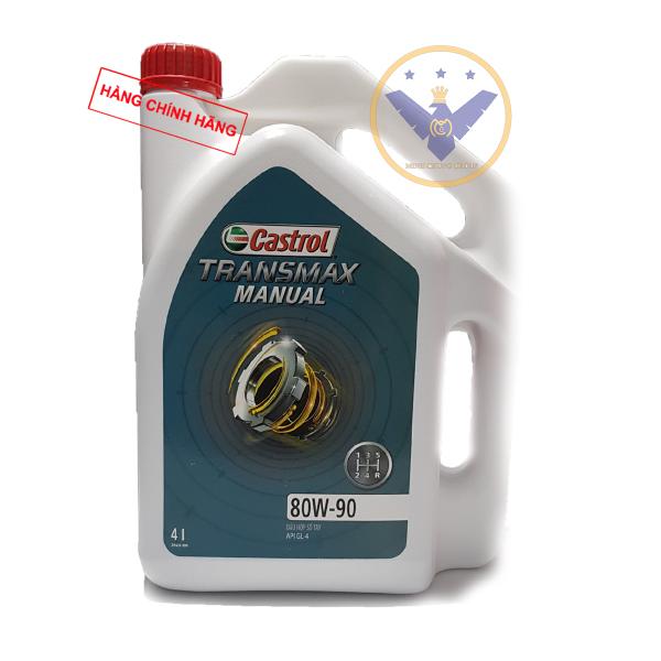Dầu hộp số tay, dầu cầu xe ô tô Castrol Transmax Manual 80W-90 API GL4 Can 4L