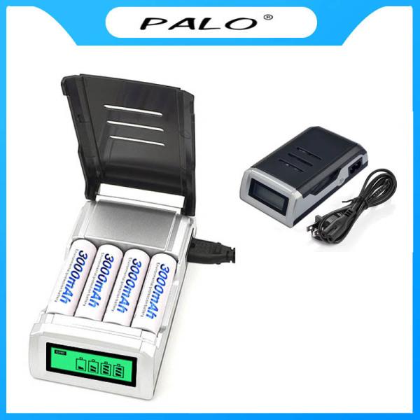 Bộ sạc pin AA AAA thông minh màn hình hiển thị LCD tự ngắt khi pin đầy - PALO C905