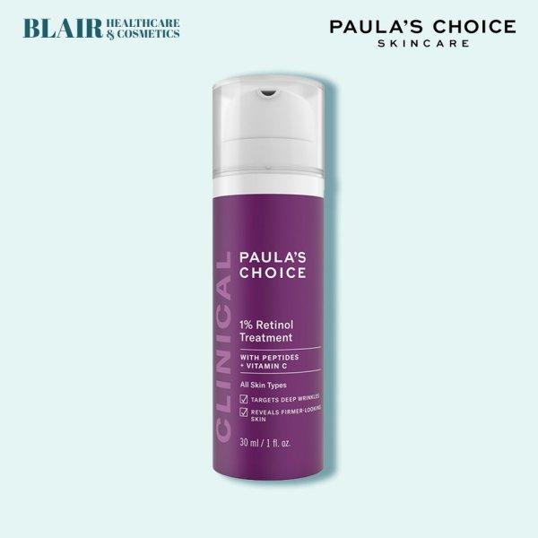 Tinh chất làm mờ nám và nếp nhăn Paula's Choice Clinical 1% Retinol Treatment 30 ml nhập khẩu