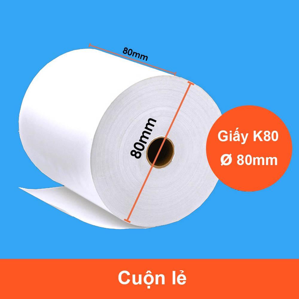 Mua Cuộn giấy in nhiệt K80 phi 80 giấy in hóa đơn cuộn lớn GIN-K80B