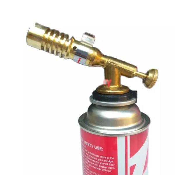 ( SALE XẢ KHO )Đèn khò gas mini bằng đồng cao cấp,có vòng điều chỉnh oxy giúp ngọn lửa xanh và mạnh,vỏ sản phẩm làm từ chất liệu không gỉ và chịu được nhiệt tốt,nhiệt độ đầu khò từ 1-200 độ C - Đầu khò gas mini cầm tay tiện