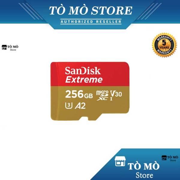 [HCM]Thẻ nhớ MicroSDXC SanDisk Extreme 256GB A2 ~ 160MB/s - Bảo hành 5 năm
