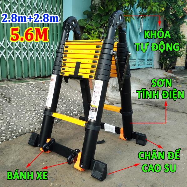 Thang nhôm rút xếp đôi chữ A 5.6M [2.8m+2.8m] Sumika SKS560D NEW (bảo hành 2 năm)