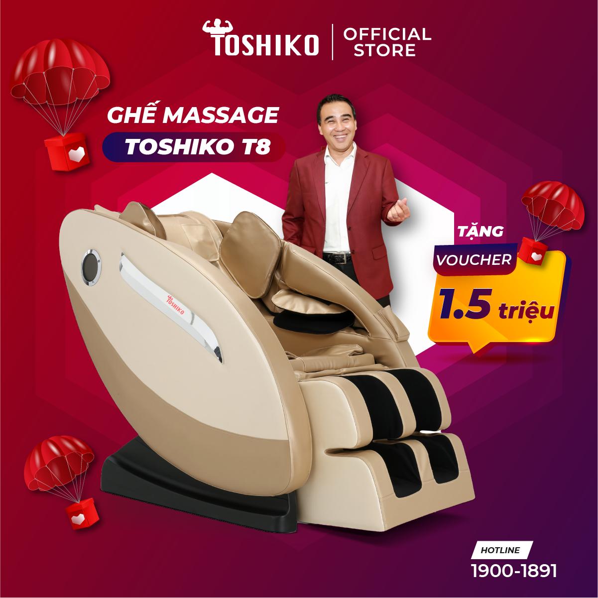 Ghế massage trị liệu toàn thân Toshiko T8 hàng chính hãng, bảo hành 6 năm