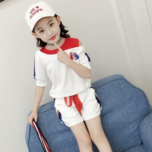 Giá bán Bộ đồ áo thun và quần đùi cho bé gái từ 3 đến 14 tuổi - D020