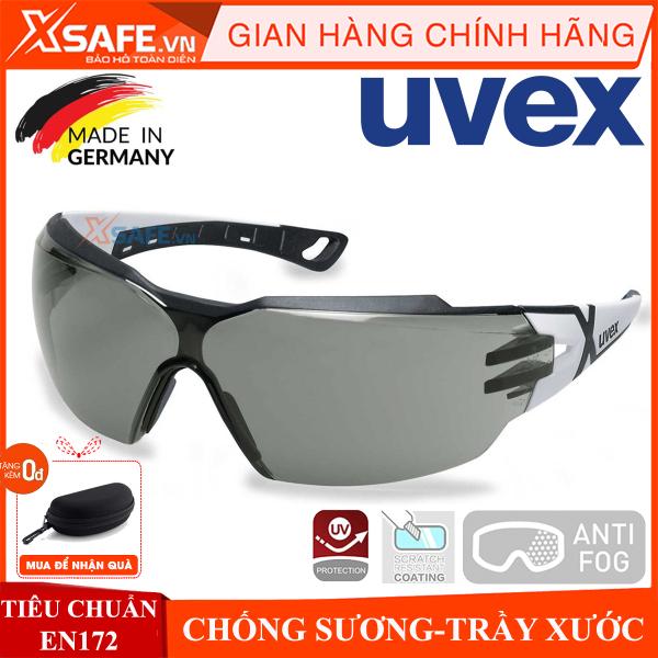 Kính bảo hộ UVEX PHEOS CX2 9198237 kính chống bụi, chống hơi nước trầy xước vượt trội, ngăn chặn tia UV, mắt kính đi xe máy, lao động, phòng dịch, (màu râm) chính hãng [XSAFE] [XTOOLS]