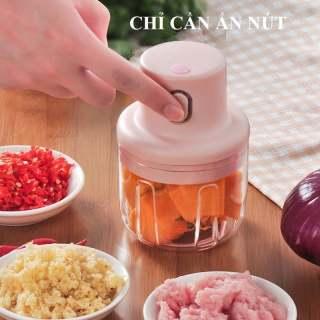 [HOT 2021] Máy xay tỏi ớt mini đa năng loại tốt 250ml, xay thịt,say sinh tố,xay đồ ăn dặm cho bé giá rẻ thumbnail