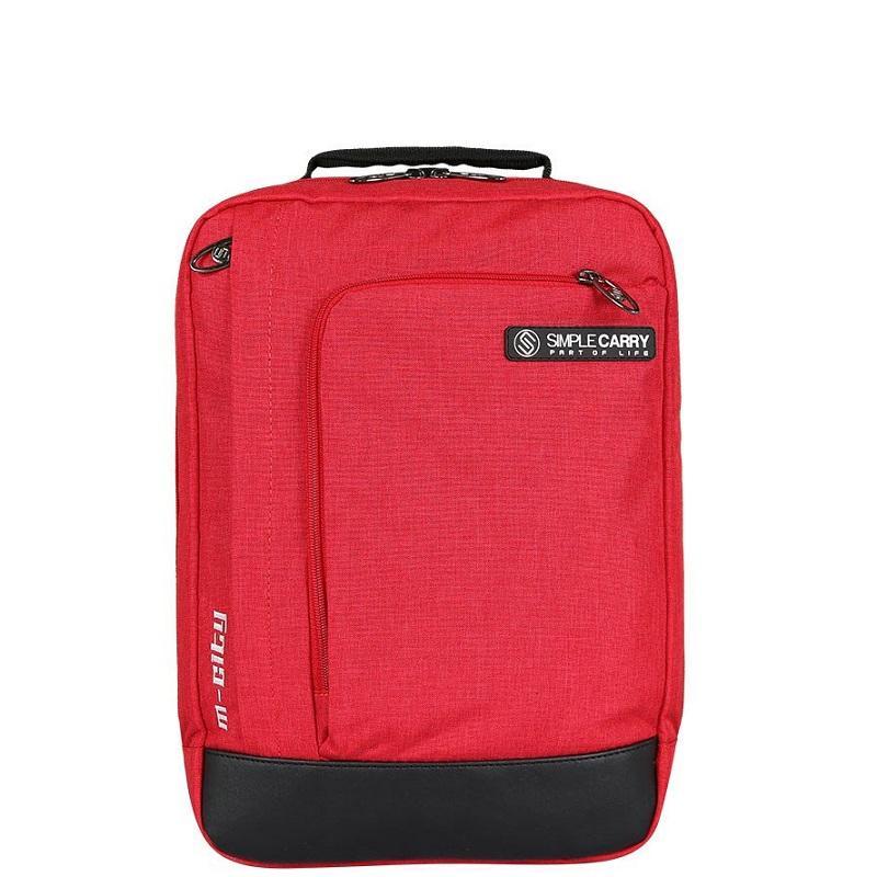 Balo laptop 13.3 inch Simplecarry M-City- Màu đỏ- Chất liệu polyester trượt nước cao cấp